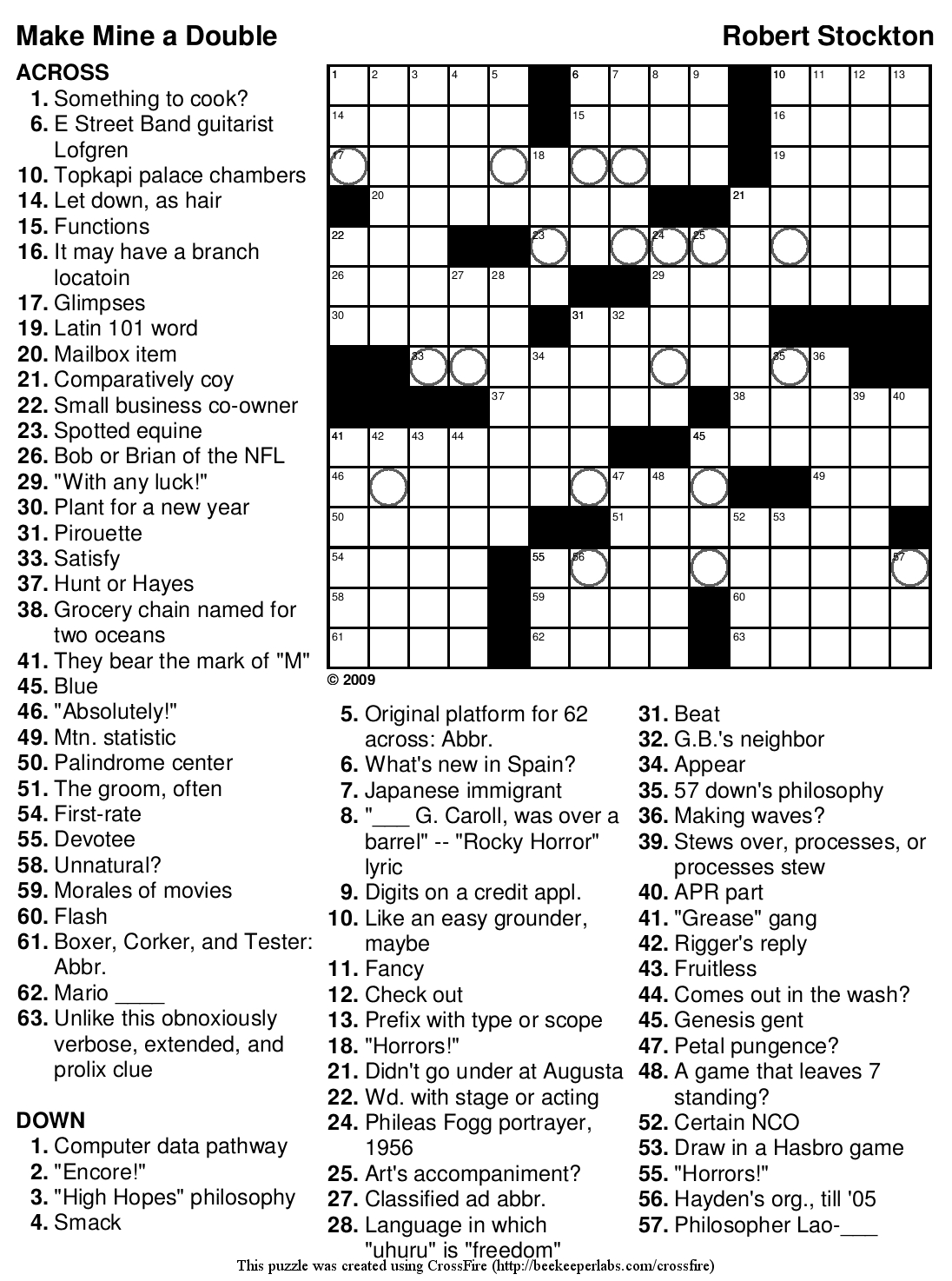 Beekeeper Crosswords - Printable Crossword Hard
