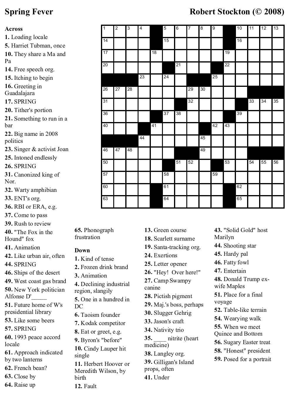 Beekeeper Crosswords - Printable Dirty Crossword Puzzles