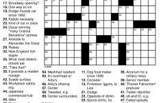 Printable Medical Crossword Puzzles Free