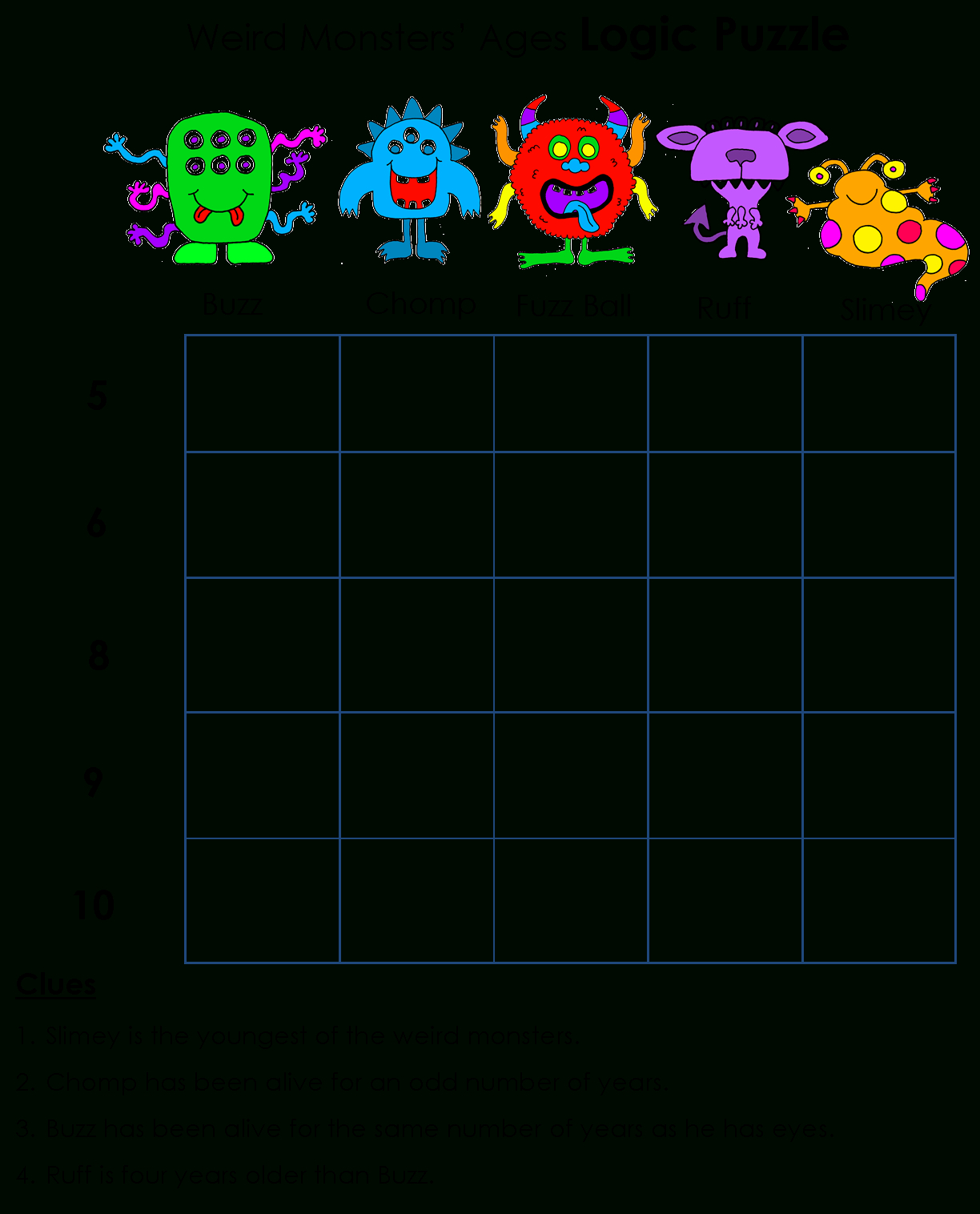Beyond Gold Stars: Logicawesome Printable Logic Puzzles | Logic - Printable Logic Puzzles For First Graders