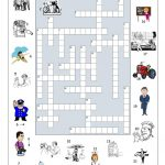 Big Jobs Picture Crossword Worksheet   Free Esl Printable Worksheets   Printable Crossword Puzzles Job