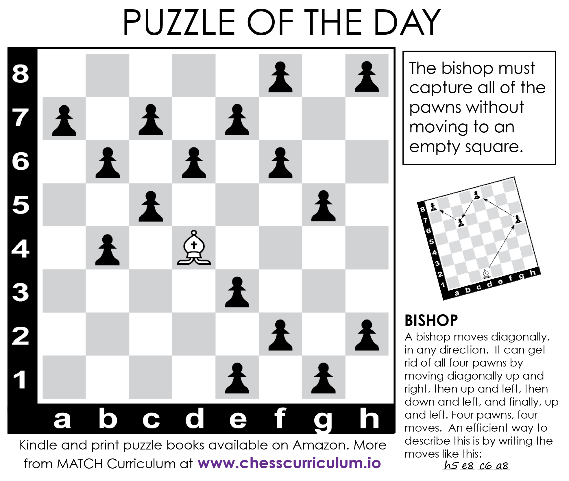 Bishop Chess Puzzle. More Puzzles On The Blog And Our Fb Page - Printable Chess Puzzles