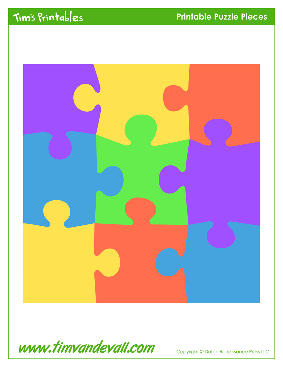 Blank Puzzle Piece Template - Free Single Puzzle Piece Images | Pdf - Printable 9 Piece Puzzle