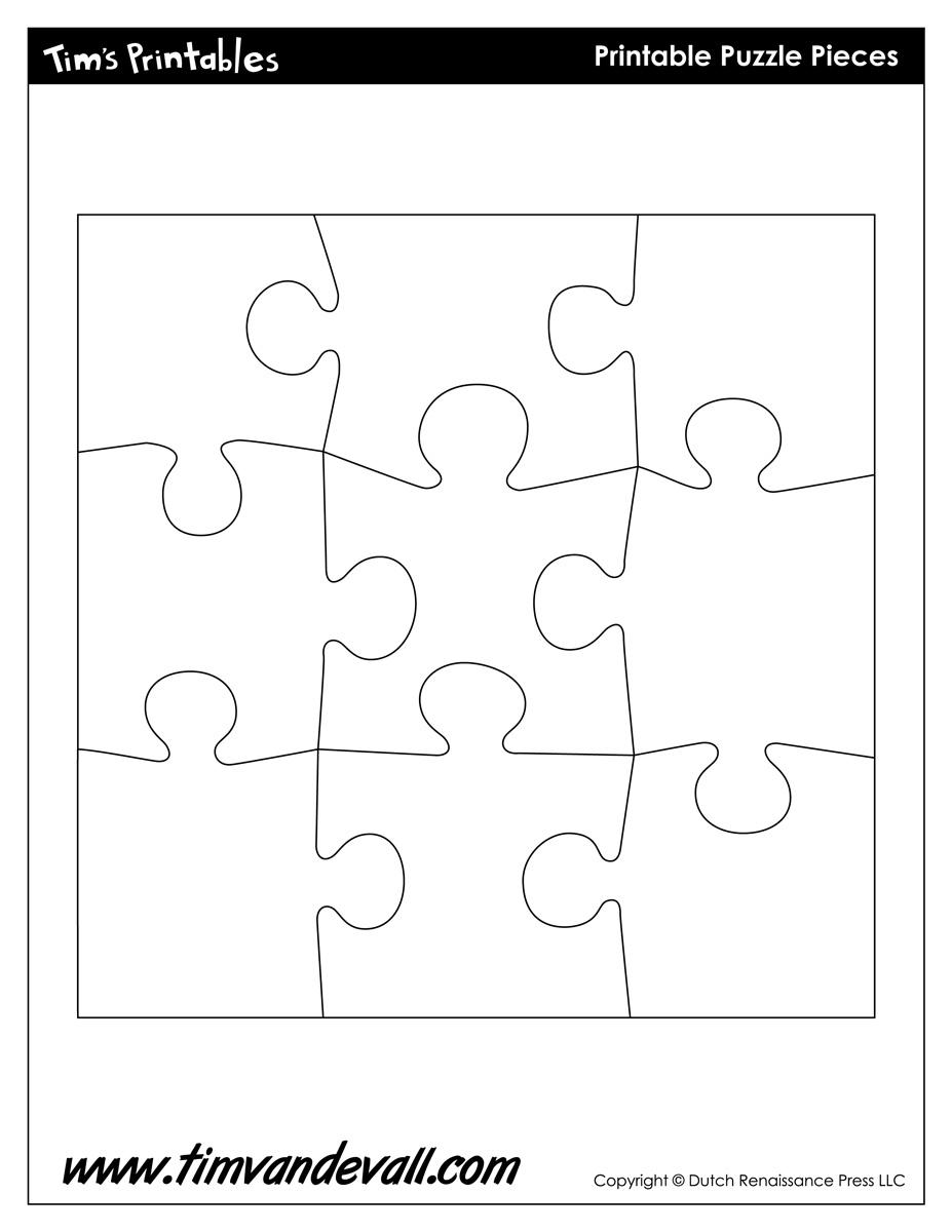 Blank Puzzle Piece Template - Free Single Puzzle Piece Images | Pdf - Printable Puzzle Pieces