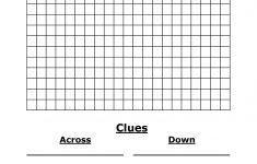 Crossword Puzzle Template Printable