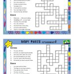 Body Parts Crosswords Worksheet   Free Esl Printable Worksheets Made   Free Printable Crossword Puzzles Body Parts