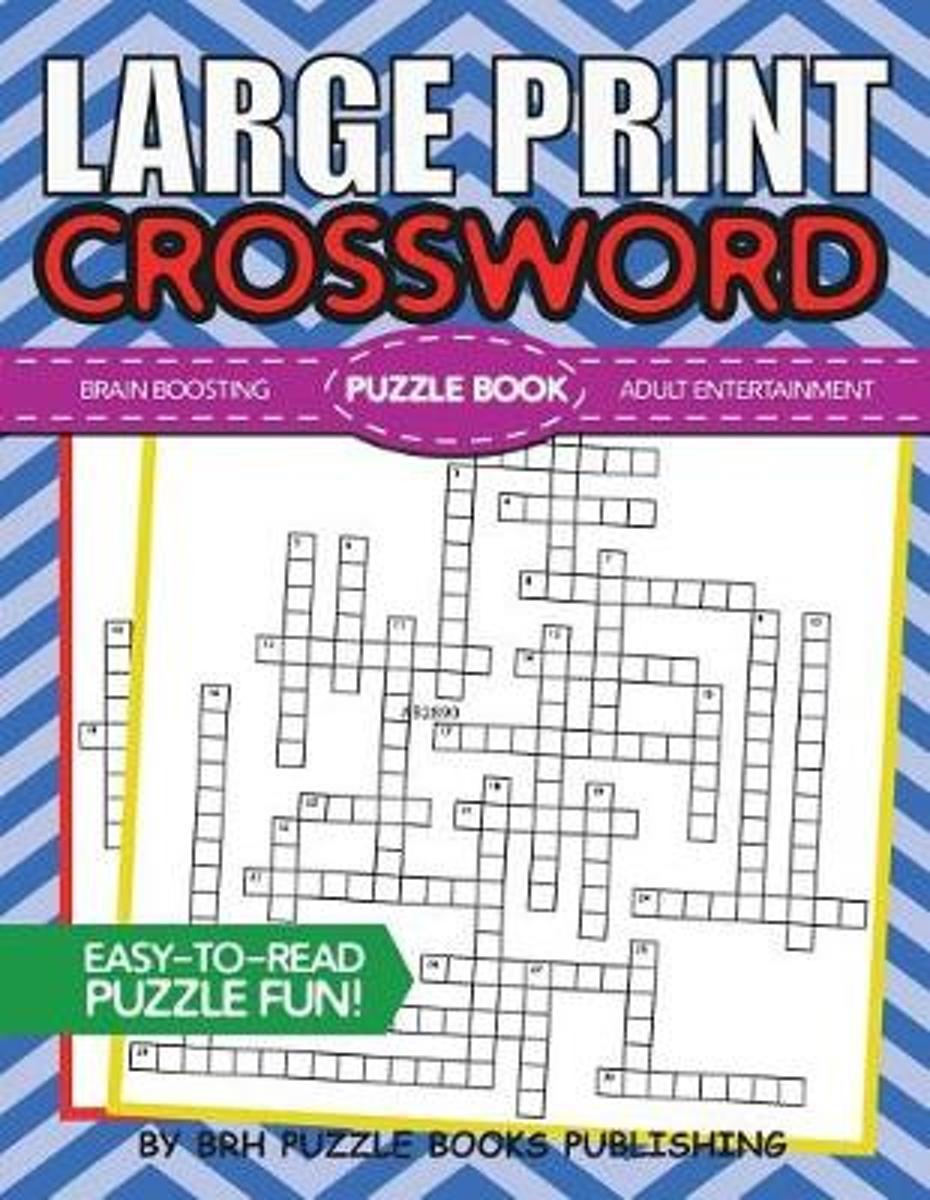 Bol   Large Print Crossword Puzzle Book, Brh Puzzle Books - Large Print Crossword Puzzle Books For Seniors