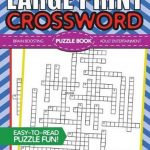 Bol | Large Print Crossword Puzzle Book, Brh Puzzle Books   Print Crossword Puzzle Book