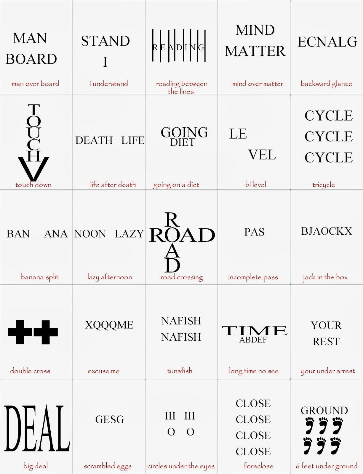 Brain Breaks | Visual Puzzles | Brain Teasers, Brain, Word Puzzles - Free Printable Visual Puzzles