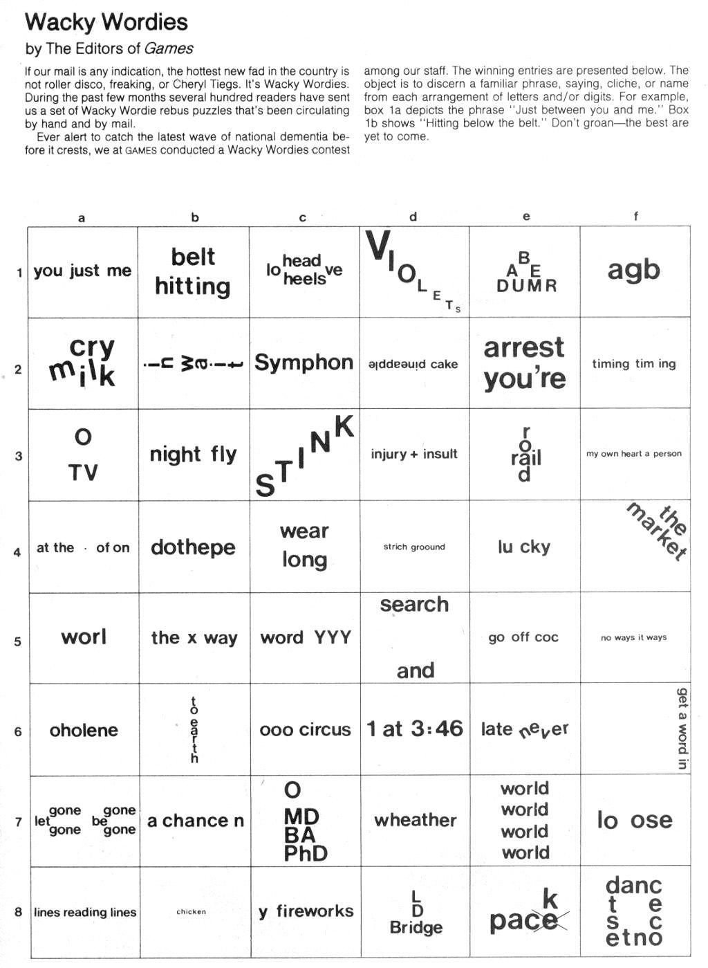 Brain Teasers: Wackie Wordies | School Stuff | Word Puzzles, Brain - Printable Riddle Puzzles