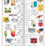 British/american English Crossword Puzzle Worksheet   Free Esl   Printable Crossword Puzzles Spanish