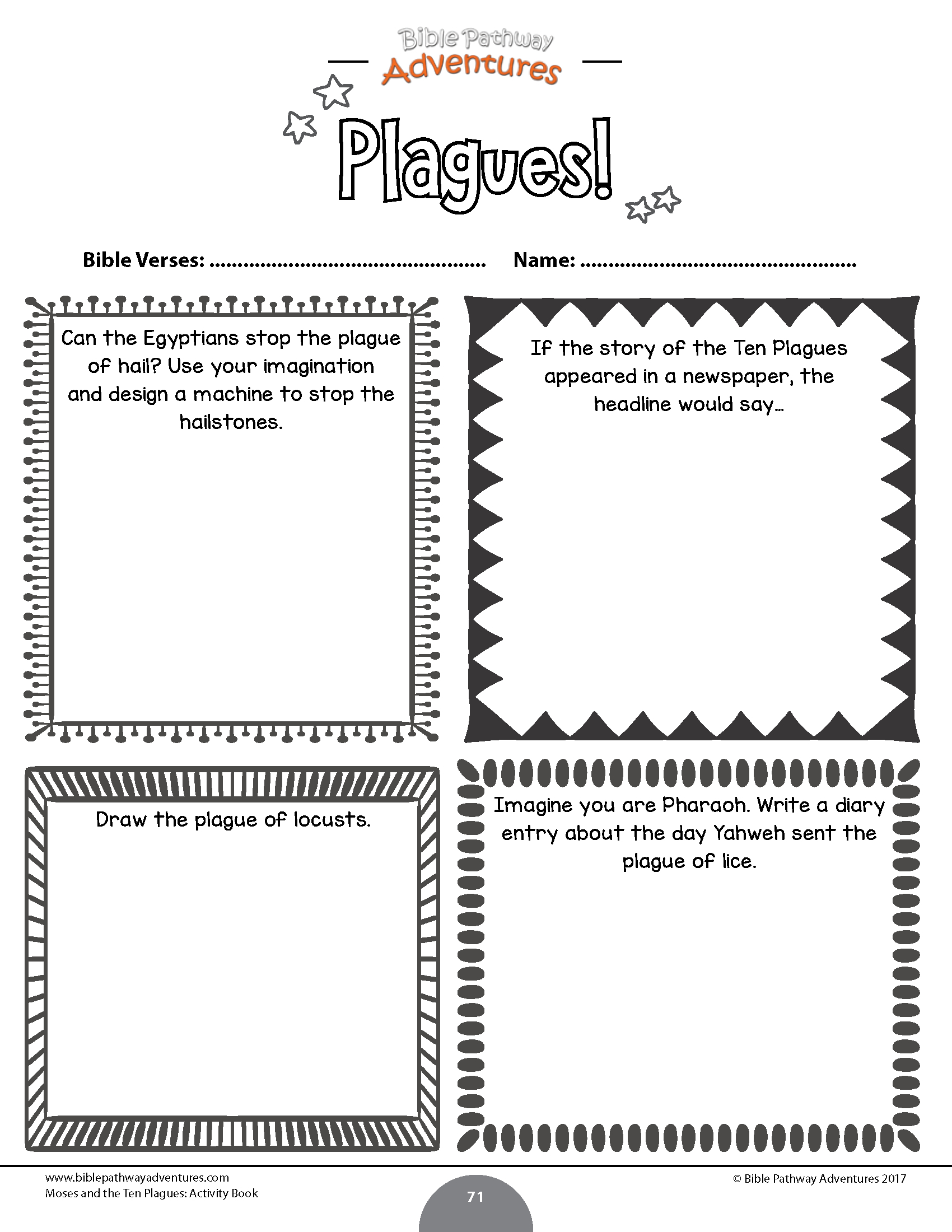 Bundle: The Passover Story – Bible Pathway Adventures - Printable Bible Crossword Puzzles With Scripture References