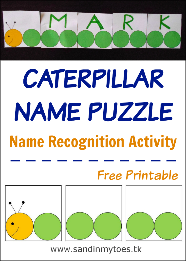 Busy Hands: Caterpillar Name Puzzle (Free Printable) | Busy Hands - Printable Name Puzzles For Preschoolers