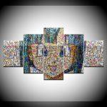 Canvas Painting Art Design Puzzle Girl Avatar 5 Pieces Art Painting   5 Piece Printable Puzzle