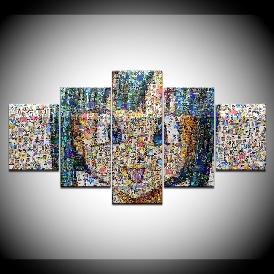 Canvas Painting Art Design Puzzle Girl Avatar 5 Pieces Art Painting - 5 Piece Printable Puzzle