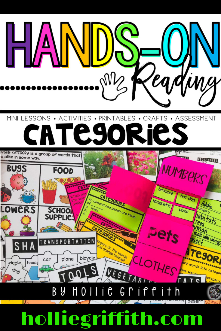 Categories L.1.5.a & L.1.5.b {Hands-On Reading} | Classroom - Printable Razzle Puzzles