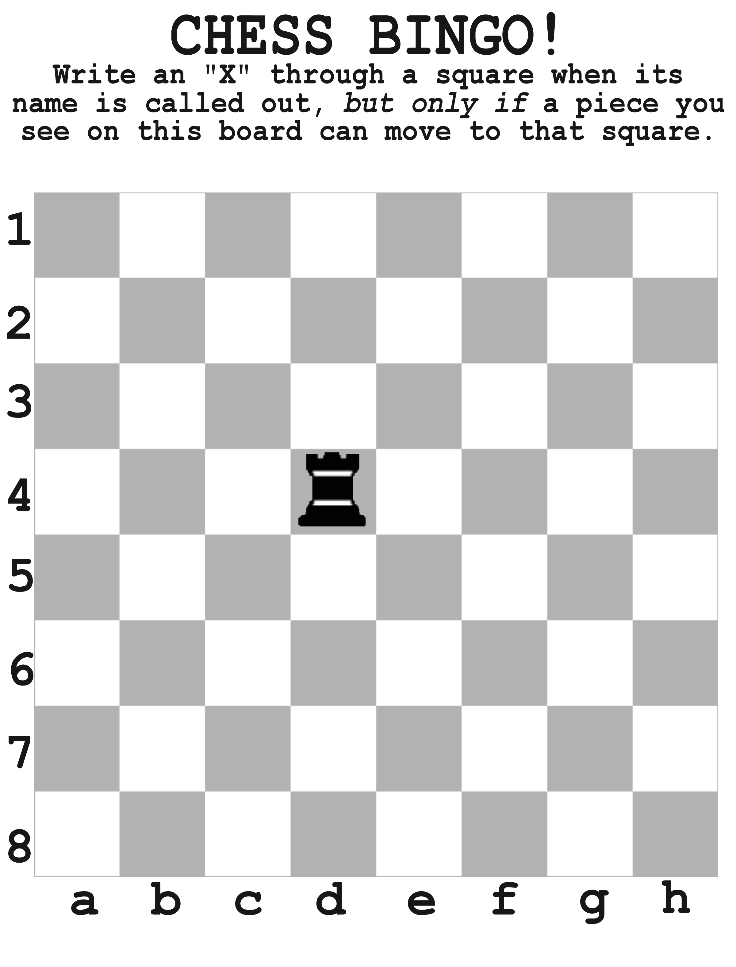 Chess Bingo: Educational Tool For Young Kids Learning Chess | Chess - Printable Chess Puzzles