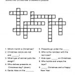 Christmas Crossword Puzzle: Uncover Christmas Words In This   Printable Esl Crossword Worksheets