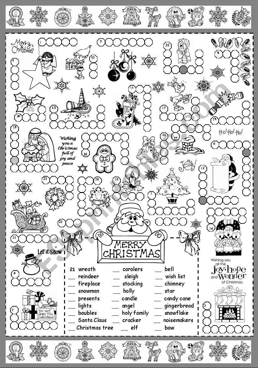 Christmas Puzzle - Esl Worksheetsilvanija - Printable Santa Puzzle