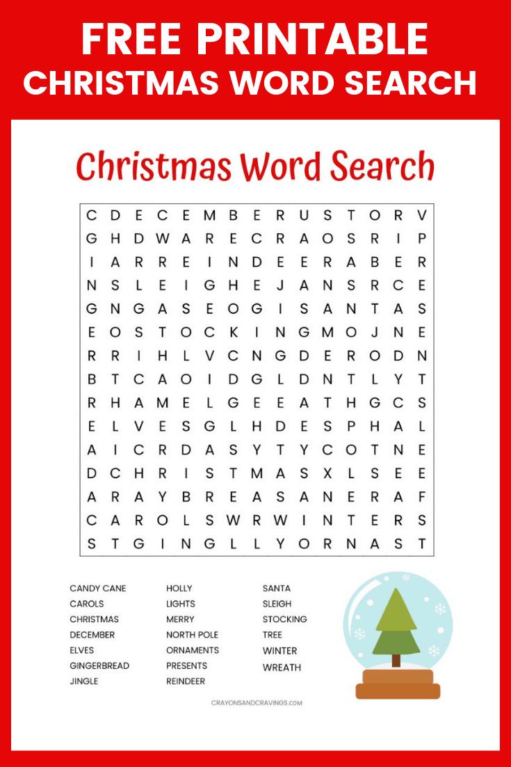Christmas Word Search Free Printable For Kids Or Adults - Free - Printable Christmas Puzzles For Adults