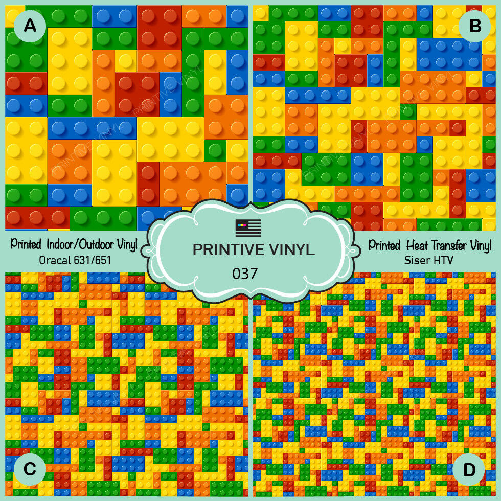 Colorful Kids Puzzle Block Toys Printed Siser Htv, Oracal Craft - Puzzle Print Htv