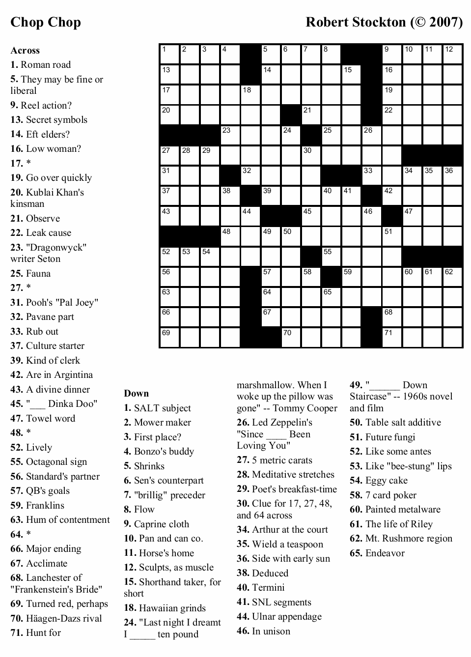 Coloring ~ 81Br7Uqwtll Large Print Crosswords Puzzle Book Volume - Printable Crossword Puzzle With Clues