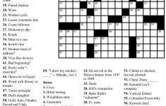 Printable Crossword Puzzles By Thomas Joseph