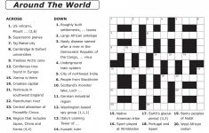 Thomas Joseph Crossword Printable Version