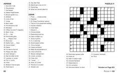Printable Jumbo Crossword