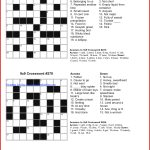 Coloring ~ Marvelous Large Print Crosswords Photo Ideas Free   Printable Beginner Crossword Puzzles