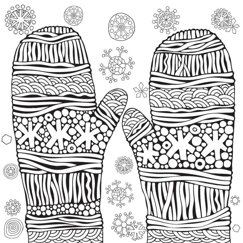 Coloring Page ~ Excelent Winter Colorings For Kids Puzzle Printable - Printable Puzzle Coloring Pages