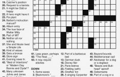 Easy Printable Crossword Puzzles Large Print