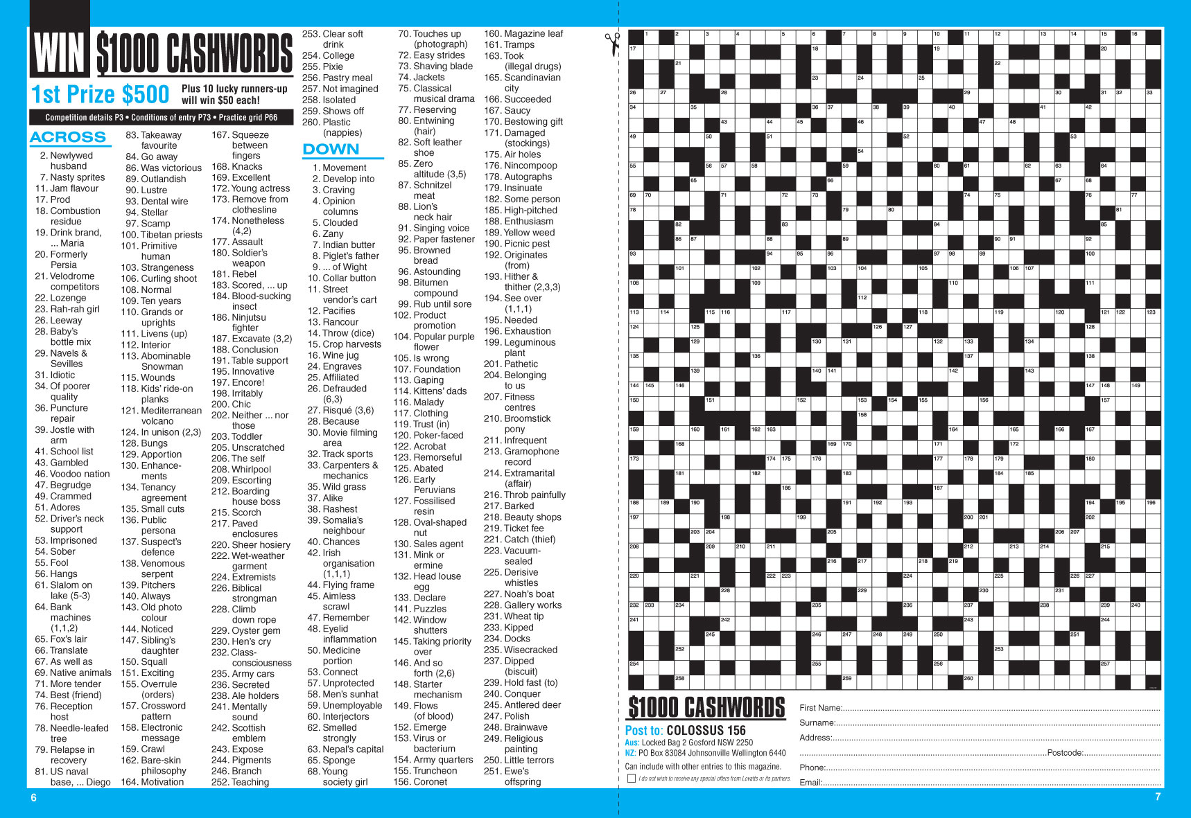Colossus Crosswords Magazine - Lovatts Crossword Puzzles Games & Trivia - Printable Lovatts Crosswords