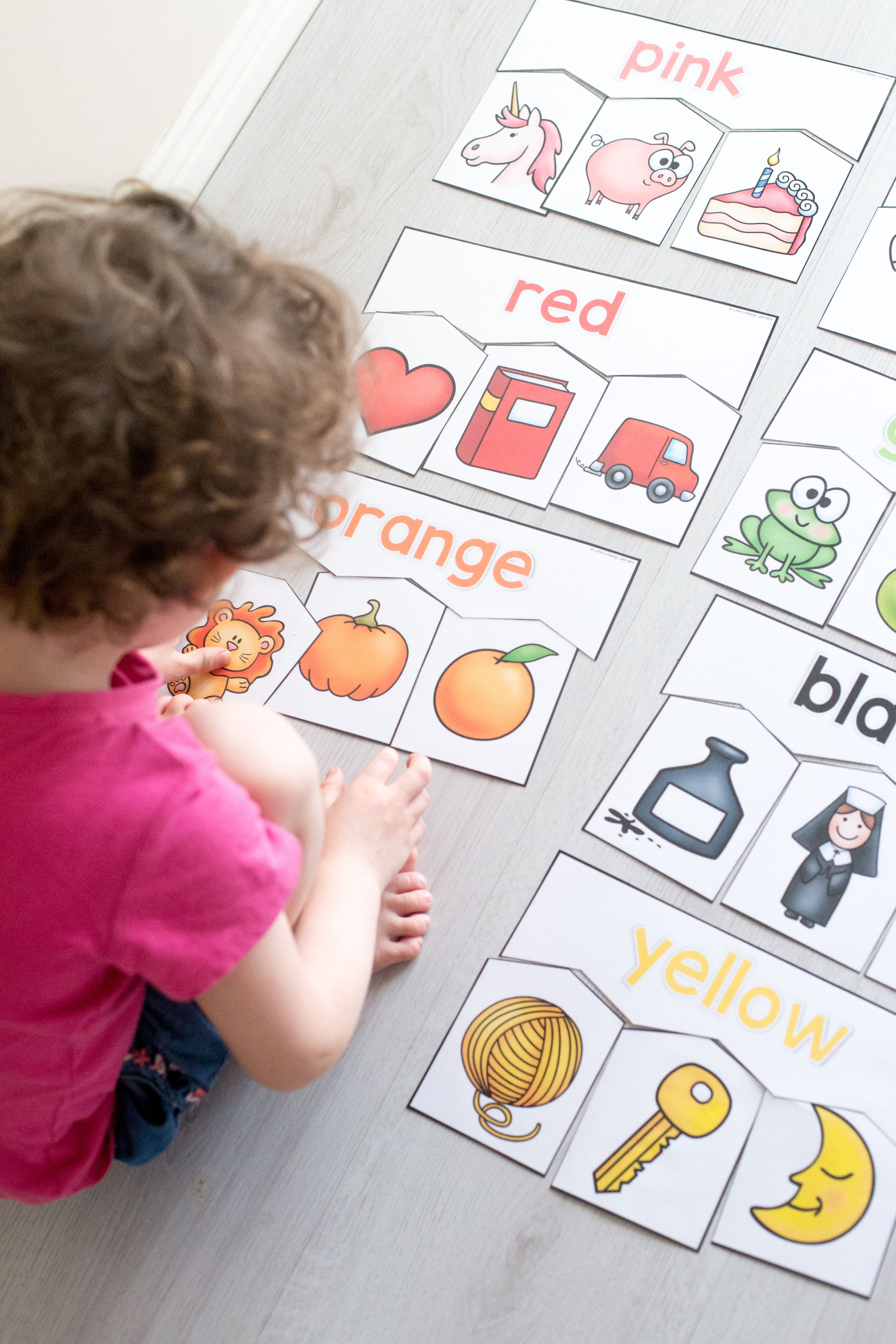 Colour Puzzles For Toddlers And Preschoolers | Kids | Puzzles For - Printable Puzzles For 3 Year Olds