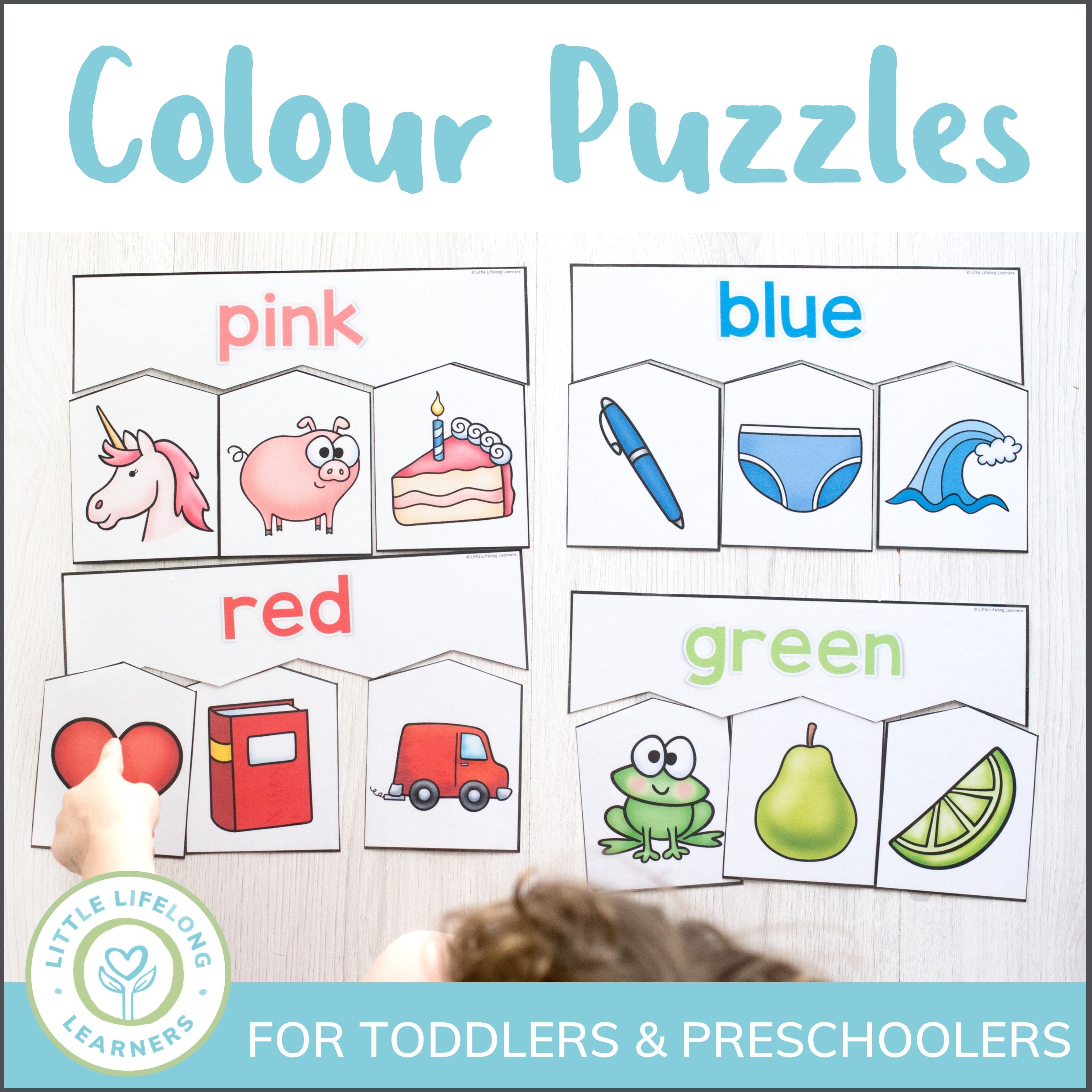 Colour Puzzles For Toddlers And Preschoolers - Little Lifelong Learners - Printable Puzzles For Toddlers