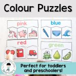 Colour Puzzles For Toddlers And Preschoolers | Toddler And   Printable Puzzle For 3 Year Old
