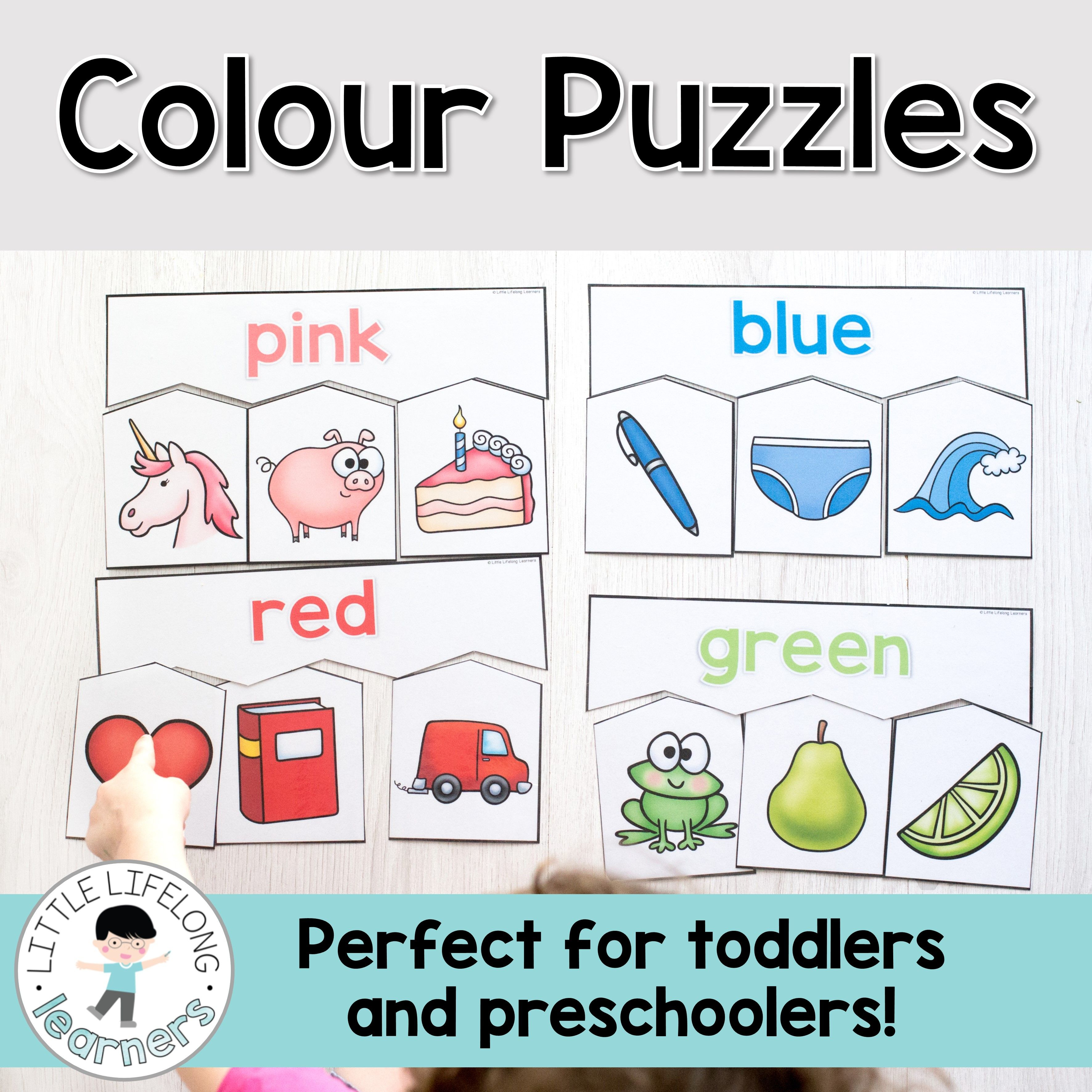 Colour Puzzles For Toddlers And Preschoolers | Toddler And - Printable Puzzles For 2 Year Olds