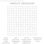 Conflict Resolution Word Search   Wordmint   Printable Conflict Resolution Crossword Puzzle