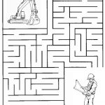 Construction Maze | Summer Camp Construction | Mazes For Kids   Printable Labyrinth Puzzles
