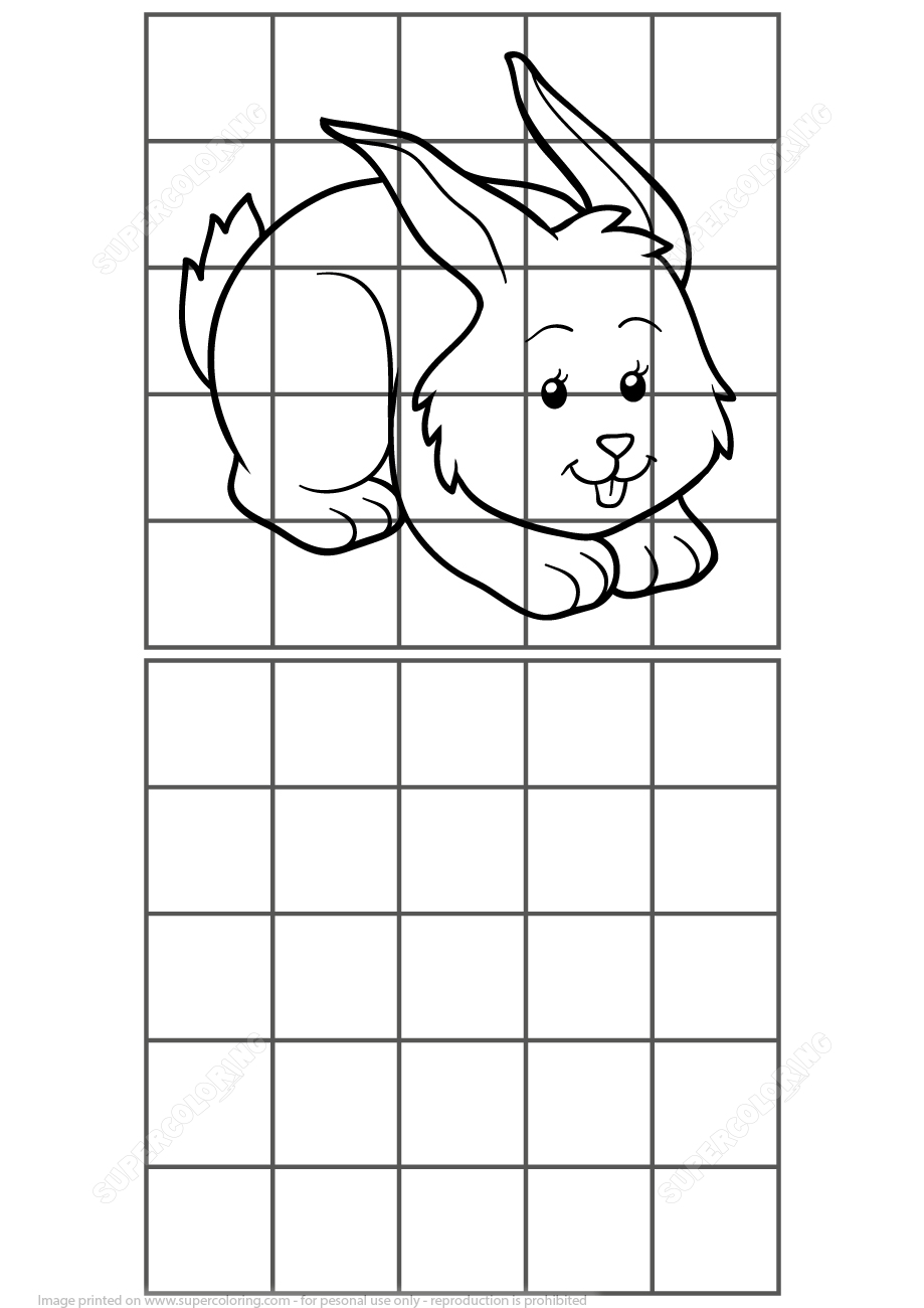Copy Picture Of Rabbit Puzzle | Free Printable Puzzle Games - Printable Bunny Puzzle