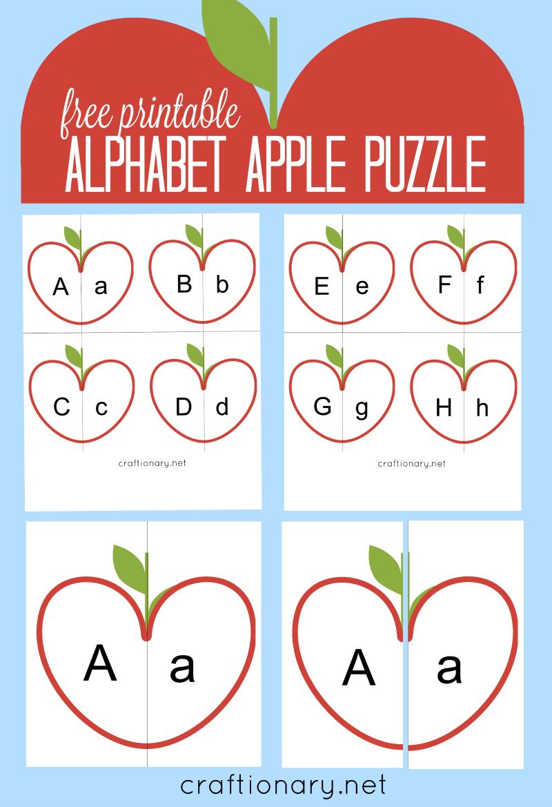 Craftionary - Printable Puzzle Alphabet