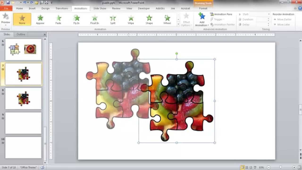 Create A Jigsaw Puzzle Image In Powerpoint - Youtube - Printable Jigsaw Puzzles Maker