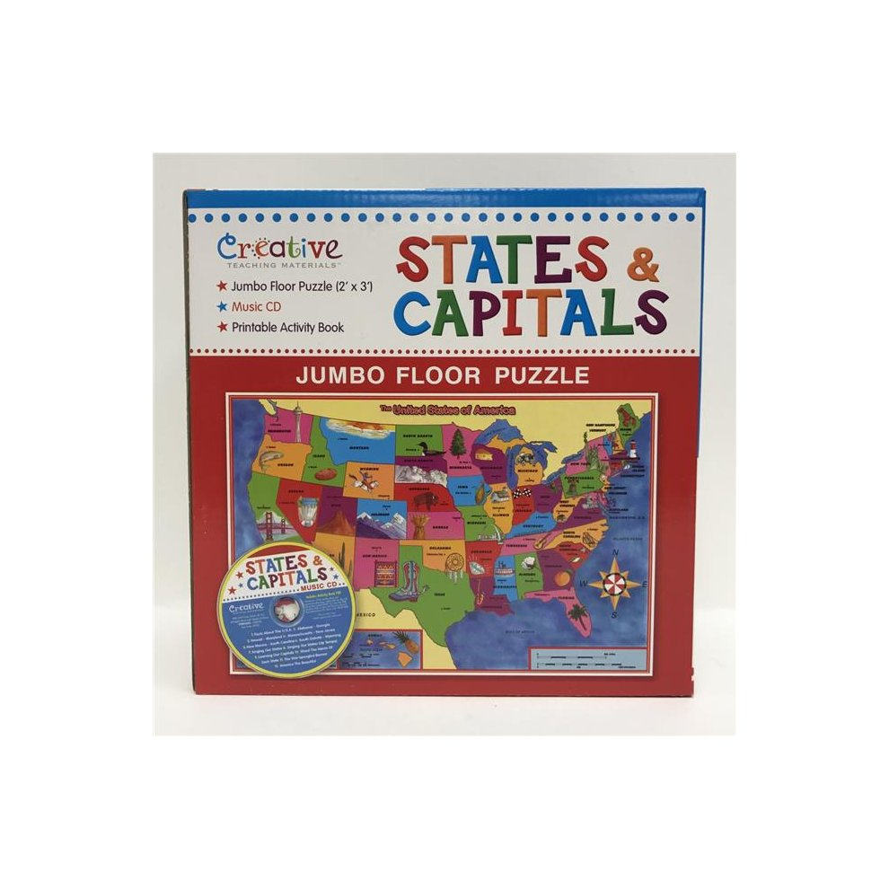 Creative Teaching Materials Ctm1022 States & Capitals Jumbo Floor - Printable Floor Puzzle
