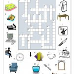 Crossword   In The House (1) Worksheet   Free Esl Printable   Printable House Puzzle