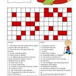 Crossword (Intermediate) Worksheet   Free Esl Printable Worksheets   Intermediate Crossword Puzzles Printable