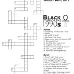 Crossword Puzzle: Black Stuff From The 90S – Nikki Lane, Ph.d   90S Crossword Puzzle Printable