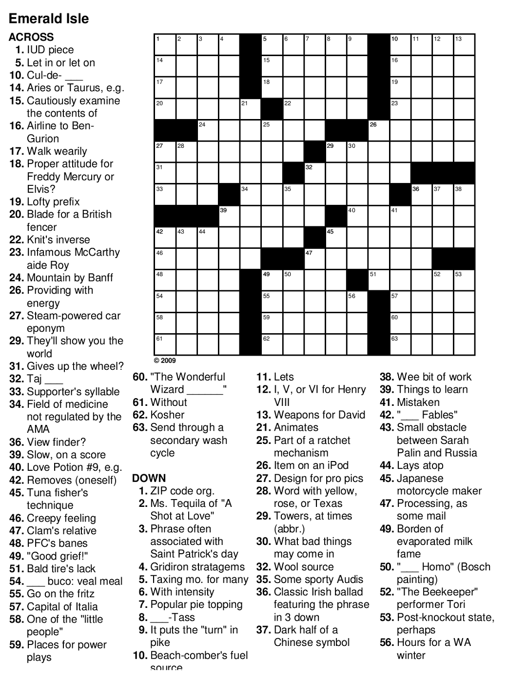 Crossword Puzzle Easy Printable Puzzles For Seniors - Crossword Puzzles And Answers Printables