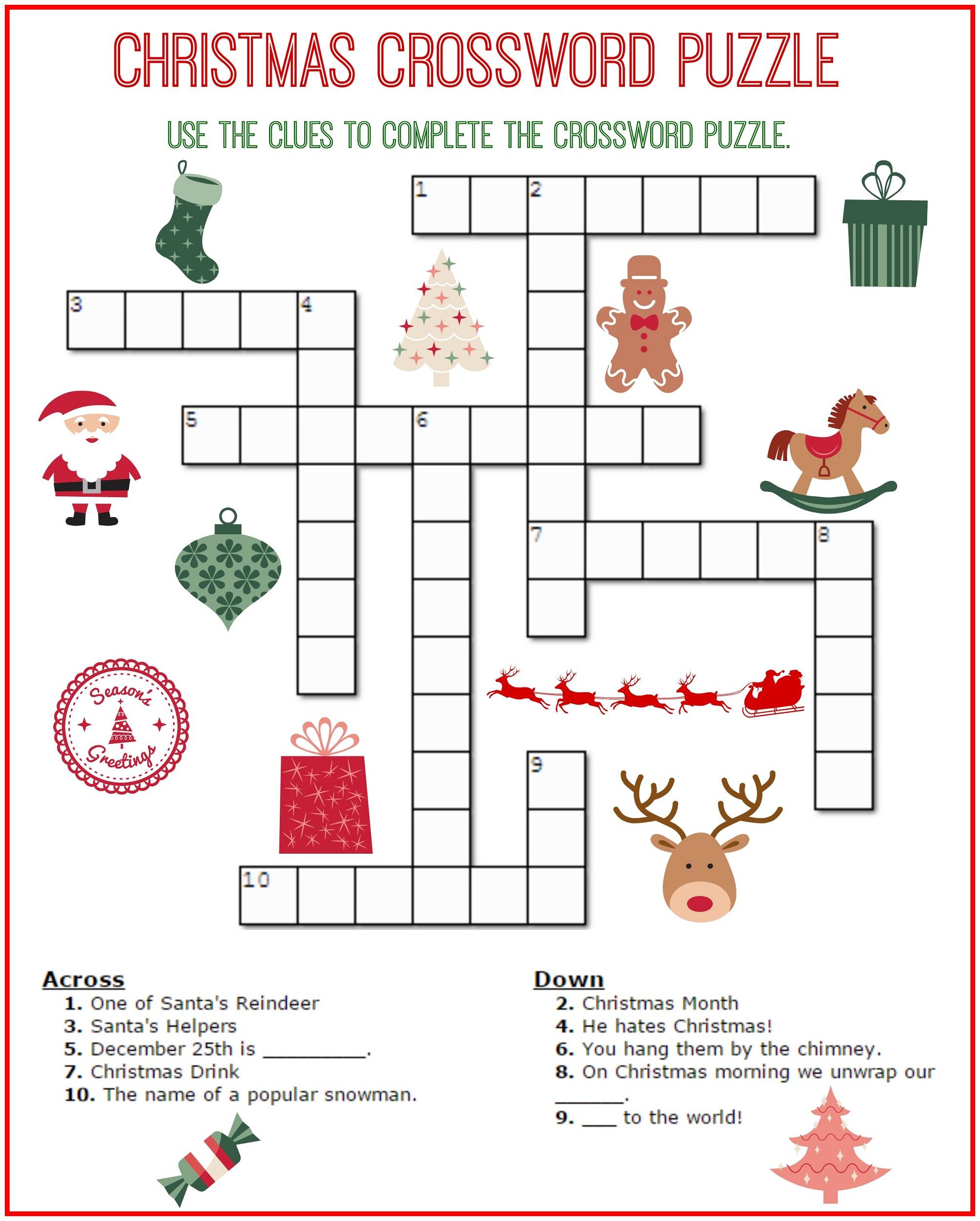 Crossword Puzzle Kids Printable 2017 | Kiddo Shelter - Printable Elementary Crossword Puzzles