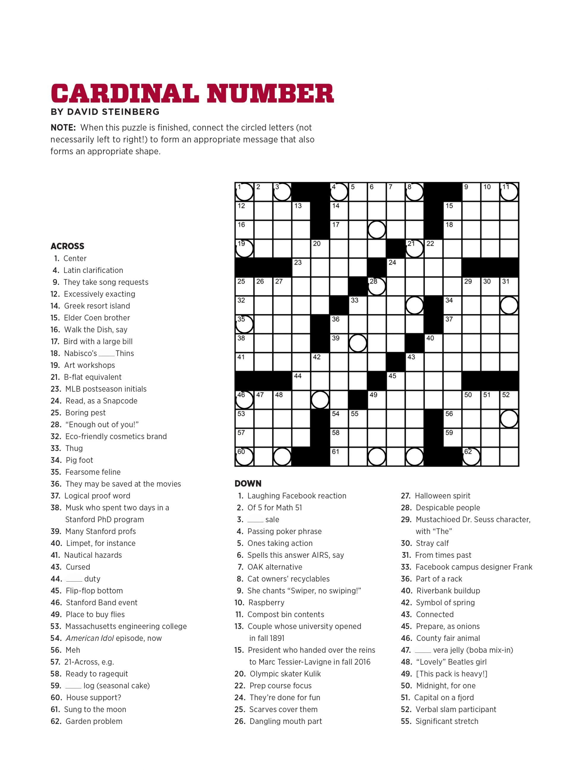 Crossword Puzzle Maker For Free Printable Crosswords Usa Today - Printable Usa Crossword Puzzles