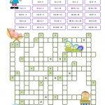 Crossword Puzzle Numbers Worksheet   Free Esl Printable Worksheets   Crossword Puzzle Printable Worksheets